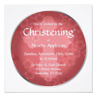 Floral Watermark Shiraz Christening Invitations