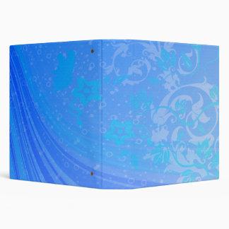 Floral Waves Of Blue Set Binder