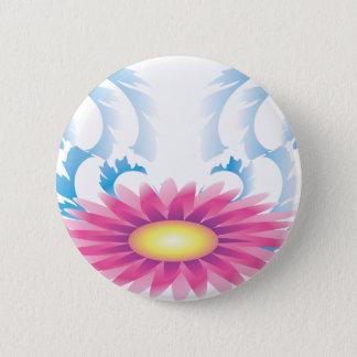 Floral Waves Pinback Button