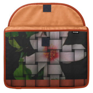 Floral-Weave print elegant bold and stylish MacBook Pro Sleeves