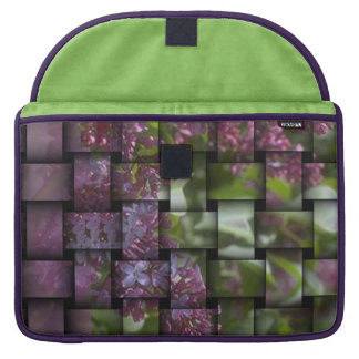 Floral-Weave print elegant bold Sleeves For MacBook Pro
