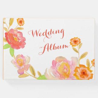 Floral Wedding Album Guest Book