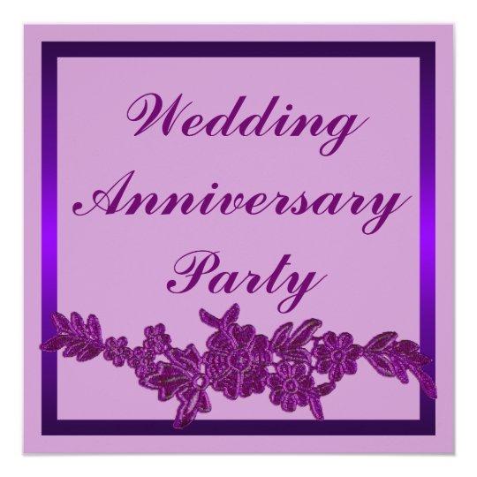 Floral Wedding Anniversary Card