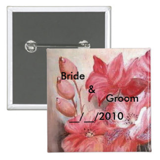 floral wedding buttons