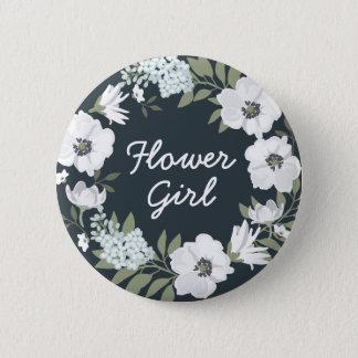 Floral Wedding Buttons Wreath Flower Girl