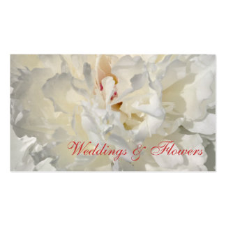 Floral wedding card Double-Sided standard business cards (Pack of 100)