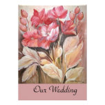 floral wedding custom invite
