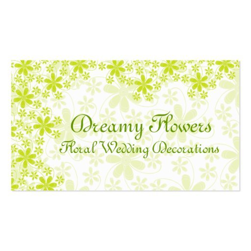 Floral Wedding Decorations Double-Sided Standard Business Cards (Pack Of 100)