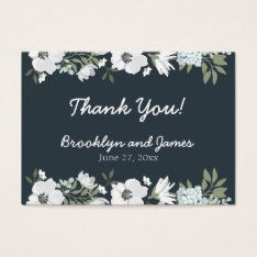Floral Wedding Favor Tags With Flowers at Zazzle