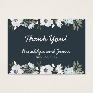 Floral Wedding Favor Tags With Flowers