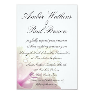 "Floral Wedding Invitation 5"" X 7"" Invitation Card"