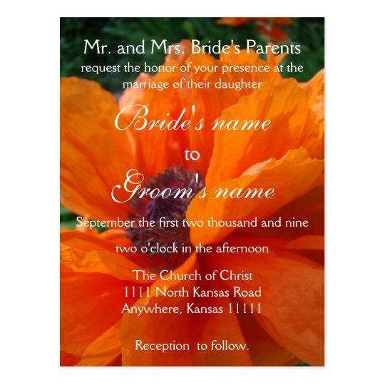 Floral Wedding invitation with scripture Postcard