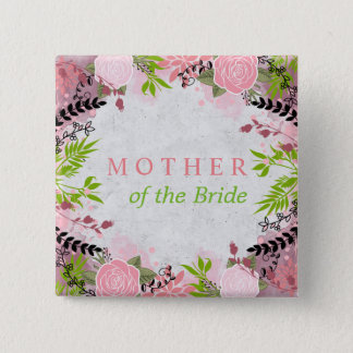 Floral wedding Mother of the Bride Button