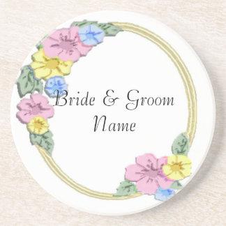 Floral Wedding Party Coasters Wedding Reception