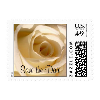 Floral Wedding Postage Stamp Save the Date