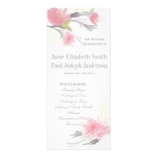 Floral Wedding Program Rack Cards