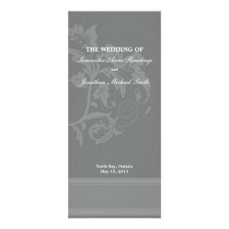 Floral Wedding Program- Slate Grey Wedding Rack Card