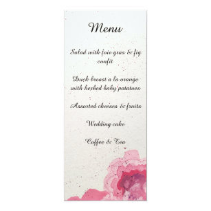 French menu invitations zazzle floral wedding reception menu cards french invitation stopboris Images
