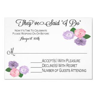 Floral Wedding Reception Only RSVP Card