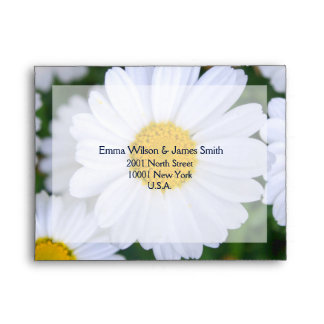 Floral Wedding RSVP Envelopes With Daisy A2
