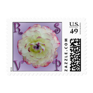 Floral Wedding RSVP Small Postage
