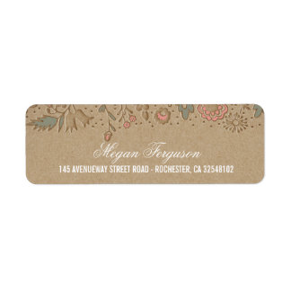 Floral Wedding Rustic Label