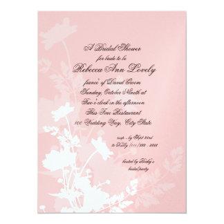 Floral Wedding Shower 5.5x7.5 Paper Invitation Card