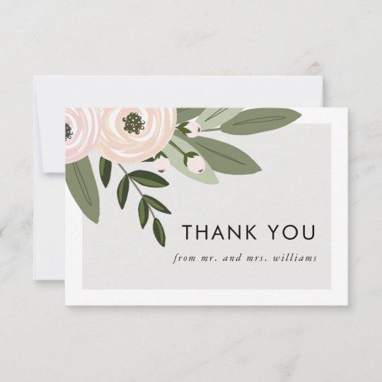 Fl Wedding Sprigs Flat Thank You Cards