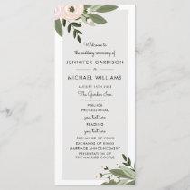 Floral Wedding Sprigs Program