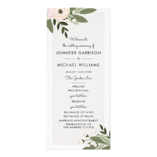 Floral Wedding Sprigs Program