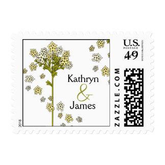 Floral Wedding Stamp