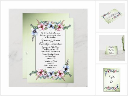 Floral Wedding Suite / Green