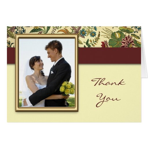Floral Wedding Thank You Cards