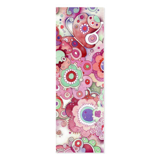 Floral Whimsy Bookmark Mini Business Card
