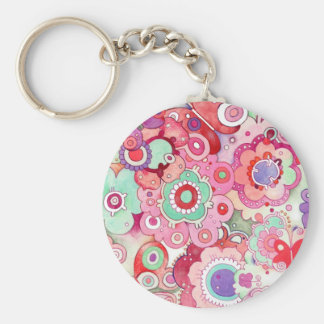 Floral Whimsy Key Chain