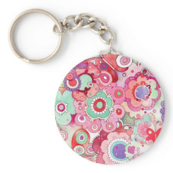 Floral Whimsy keychain