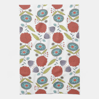 Floral Whimsy Kitchen Towel