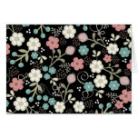 Floral Whimsy Modern Vintage Blank Notecard Stationery Note Card