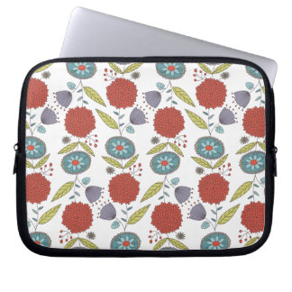 Floral Whimsy Pattern Laptop Sleeve