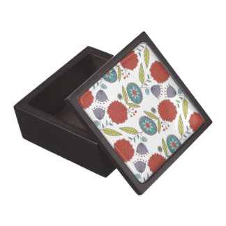 Floral Whimsy Pattern Wooden Gift Box Premium Gift Boxes