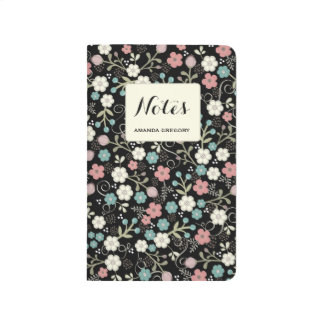 Floral Whimsy Personalized Note Journal