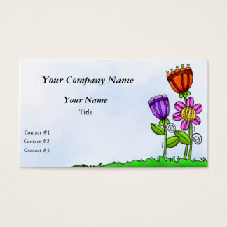 Floral Whimsy Trio Business Card