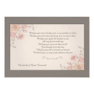 Floral Whispers Bereavement Thank You Card