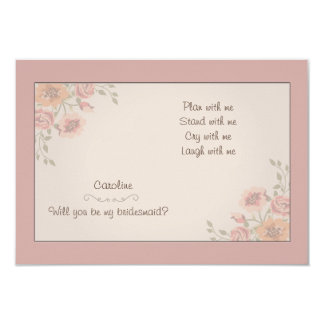 Floral Whispers Bridesmaid Cards