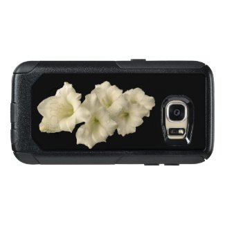 Floral White Gladiola OtterBox Galaxy S7 Case