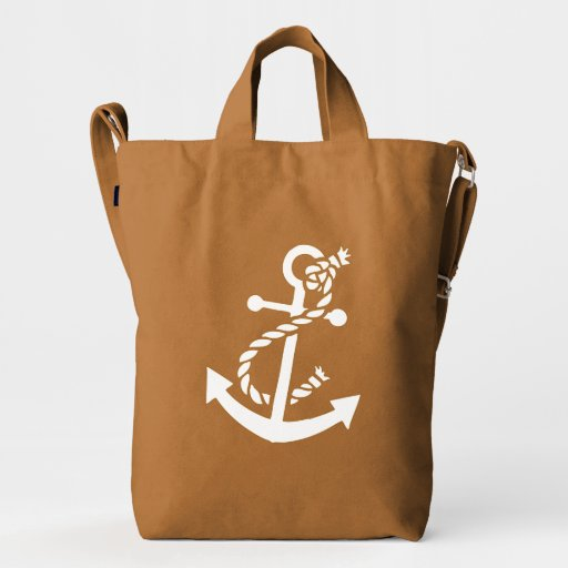 floral white nautical boat anchor 2 duck bag zazzle