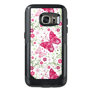 Floral White Pattern OtterBox Samsung Galaxy S7 Case