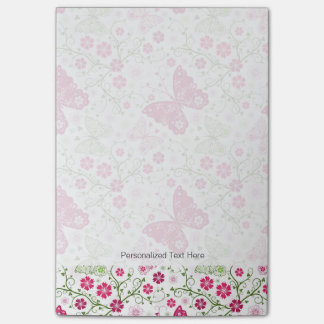 Floral White Pattern Post-it Notes