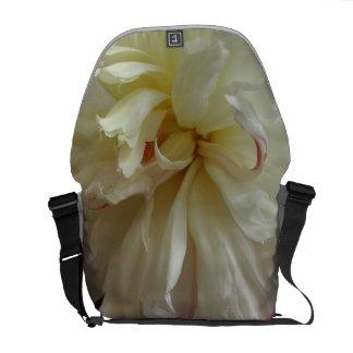 Floral White Peony Messenger Bag