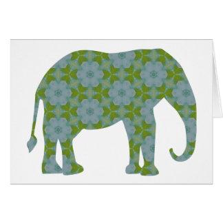 Floral Wild Elephant Card